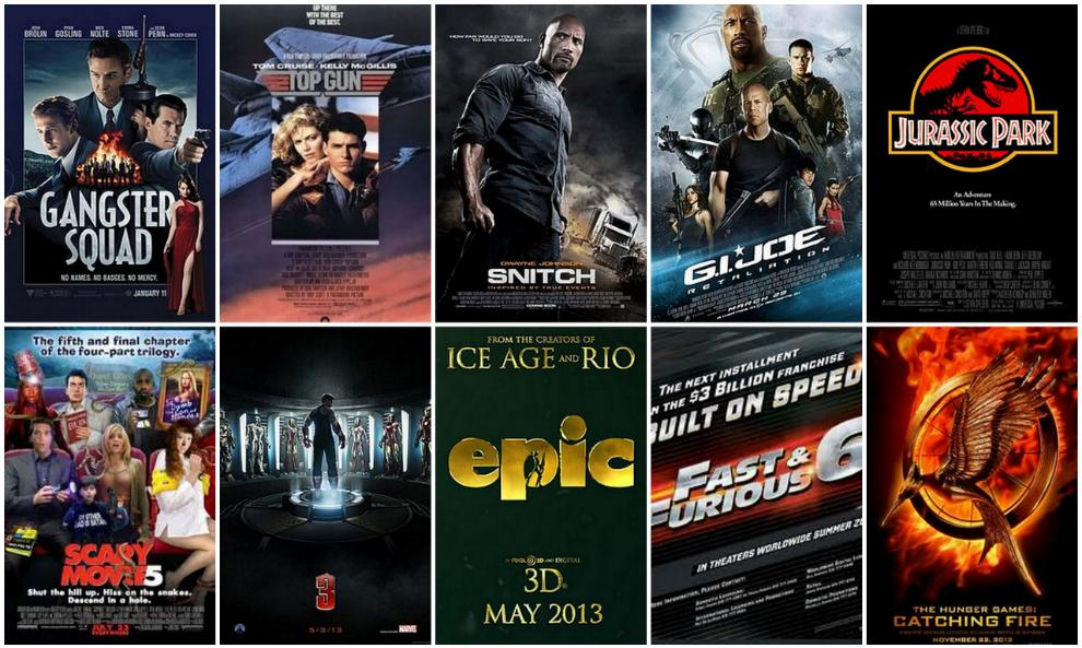 Hollywood movies 2013