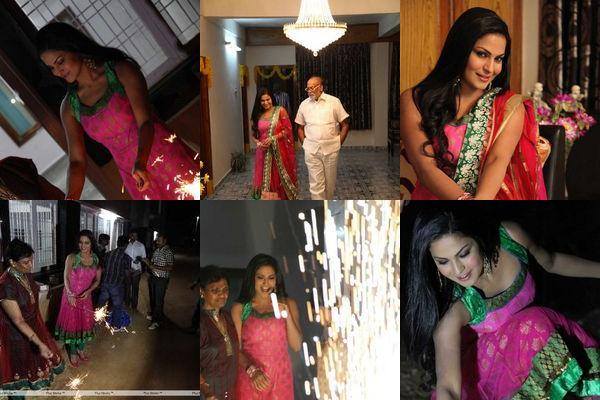 Veena Malik Diwali Photos from Hyderabad