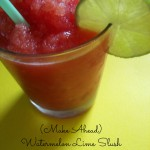 WATER MELON AND LIME SLUSH