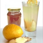 Delicious lemon and ginger drink soothing mocktail drink