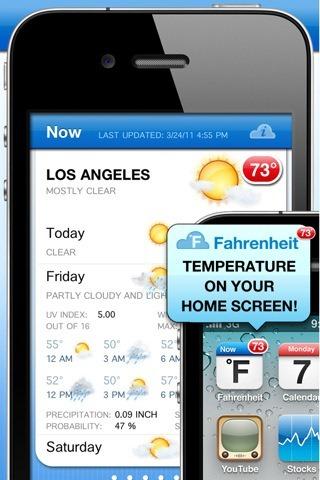 Fahrenheit iphone