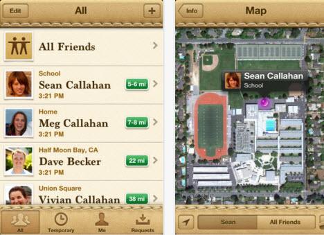 Find My Friends iphone