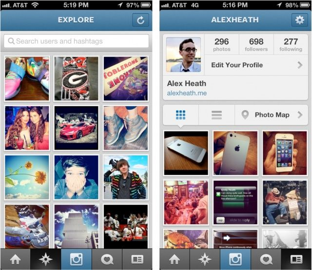 Instagram iphone app