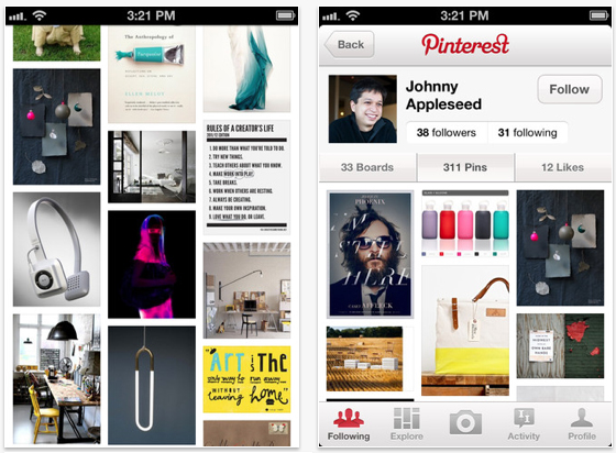 Pinterest iphone