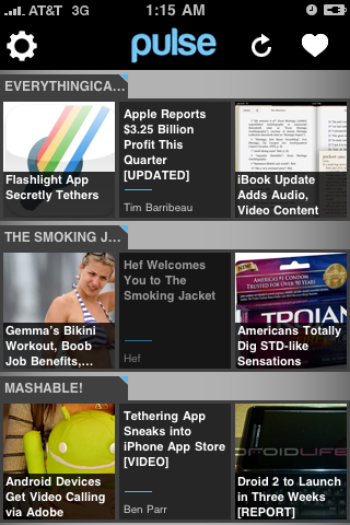 Pulse iphone app