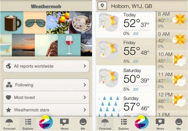 Weathermob iphone