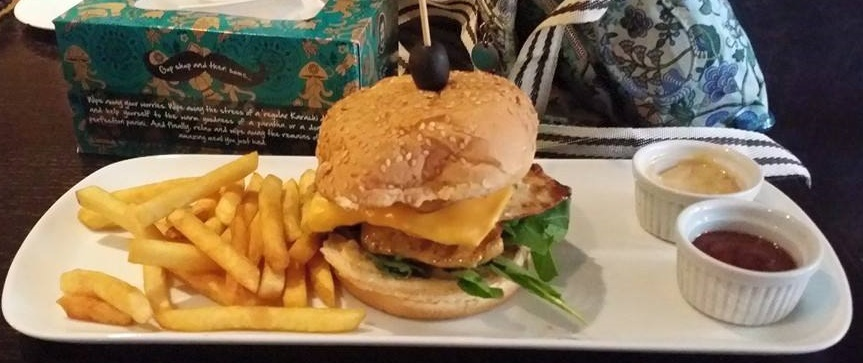 The Sattar Bukhsh  Vehshi Chicken burger