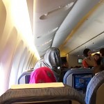PIA Air-hostess abusing passenger in flight