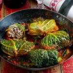 stuffed Cabbage Packets with Cheesy Minced Noodles