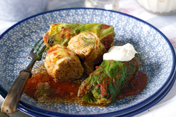 stuffed Cabbage Packets with Cheesy Minced Noodles 2