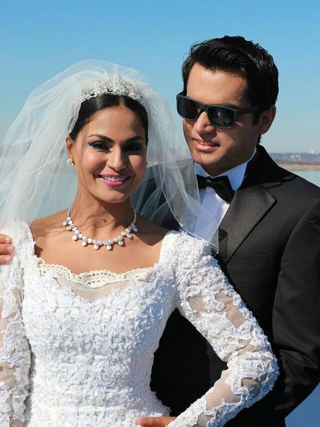 veena malik white wedding in washington
