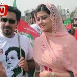Aishwariya Look Alike in PTI Jalsa Gone Viral on Internet