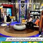 Amir Liaquat Showing The Presentation Of His Lawn In Live Show