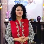 Dr Huma Mir Appearing On Her Live Morning Show With A Make Up Disaster With Her Poofed Up Hairs & Dark Eyes