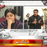 Iqrar Ul Hassan reporting from peshawar in morning show & both sanam baloch and him crying for it