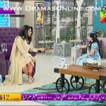 Javeria's Daughter Jannat Came On Sanam Jung's Morning Show As A Cinderella & Sung A English Song