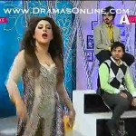 Pakistani Actress Laila Vulgar Dance in Morning Show