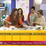 Politician Sharmeela Farooqi learning how to make a Gol Roti on a live morning show
