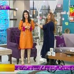 Sanam Jung Proposing To Maya Khan On Her Live Morning Show With Three Diamond Rings