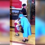 See What Happened to Girl who Presented Flowers to Queen