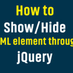 How to Show/Hide or Toggle HTML Image/Div through jQuery